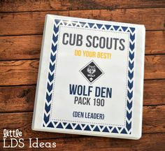Free Cub Scout Binder Covers. These Cub Scout Binder Covers are perfect for any Cub Scout Leader. Free Printable! Just download and print!