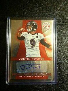 2012 Panini totally Certified RED JUSTIN TUCKER Ravens /290 Fresh From Panini