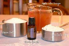 Dtox bath ~vinegar, epsom salt, benonite clay, lavender oil