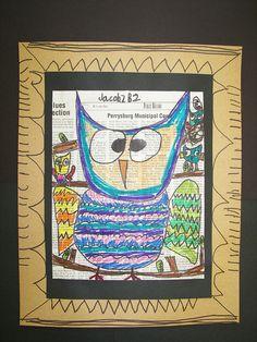 2nd Grade Owls by Paintbrush Rocket, via Flickr
