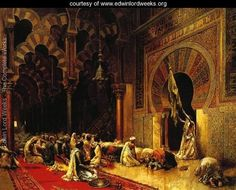 Interior Of The Mosque At Cordova - Edwin Lord Weeks - www.edwinlordweeks.org