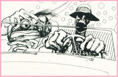 """How Hunter S. Thompson — and Psilocybin — Influenced the Art of Ralph Steadman, Creating the """"Gonzo"""" Style Ralph Steadman, Fear And Loathing, George Orwell, Las Vegas, Hunter S Thompson, Graphic Design Illustration, Illustrators, Sketches, Pictures"""