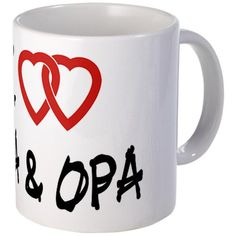 CafePress  I Love Oma and Opa Mug  Unique Coffee Mug 11oz Coffee Cup -- Visit the image link more details. (This is an affiliate link)