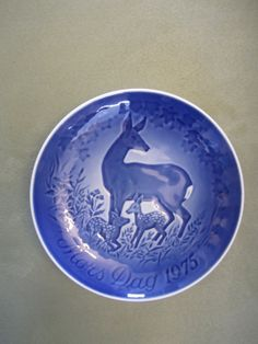 Bing & Grondahl Mors Dag 1975 Plate Mother's by CuriousCatVintage, $15.00
