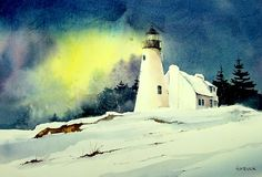 Lighthouse in winter.