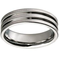 Titanium Double Groove Wedding Ring Wedding Rings, Bracelets, Silver, Jewelry, Jewlery, Jewerly, Schmuck, Jewels, Jewelery