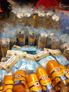 Minion Baby Shower Favors: Shampoos,lotions,mints, Dreamicakes