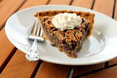 I love pecan pie, especially during the fall. During the summer, it's all about fruit pies for me, but when fall hits, I like some nutty and rich pies intermixed with the classic apple pies. I'm not a huge fan of all the corn syrup that comes along with pecan pie most of the time. [...]