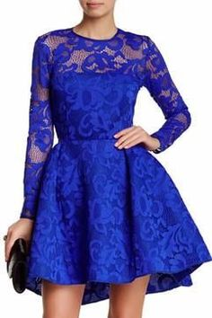 Issue Floral Print Lace A Line Dress