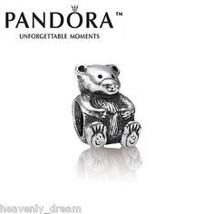 New genuine pandora #silver #teddy bear charm #790395,  View more on the LINK: http://www.zeppy.io/product/gb/2/272453959070/