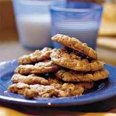 Indulge in these white chocolate chip-oatmeal cookies for a fresh twist on the traditional chocolate chip cookie.  Crunchy pecans balance out the white chocolate chips' sweetness.