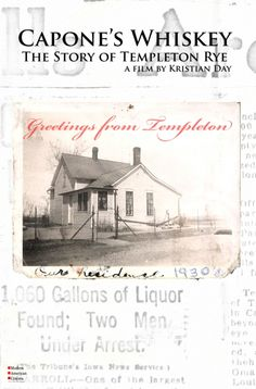 Iowa's most notorious whiskey, Templeton Rye, known as The Good Stuff. Templeton Rye is an unmistakable rye whiskey, a spirit unlike any other. Templeton Rye, Family Roots, Distillery, Movies To Watch, Iowa, Make Me Smile, Liquor, Whiskey, Spirit