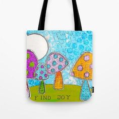 Cotton Tote Bags, Reusable Tote Bags, Paper Medallions, Coin Art, Handmade Journals, Mini Paintings, Girls Bags, Printed Bags, Finding Joy