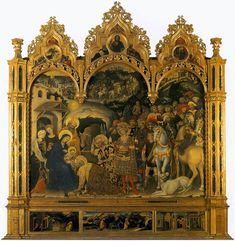 Gentile da Fabriano, Adoration of the Magi, 1423, Tempera on wood, 300 x 282 cm, Galleria degli Uffizi, Florence
