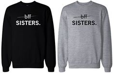 Matching BFF Black and Grey Sweatshirts for Best Friends - BFF Sisters love http://www.amazon.com/dp/B00S8PV9EK/ref=cm_sw_r_pi_dp_KLAewb17QX4TX