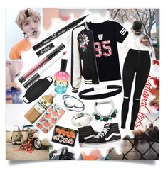 """""""""""I don't care what you think as long it's about me. The best of us can find happiness, in misery"""""""" by katlanacross ❤ liked on Polyvore featuring Hot Topic, Topshop, LE3NO, Vans, Kat Von D, Disturbia and Skinnydip"""