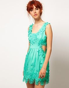 Enlarge ASOS SALON Skater Dress with Cut Out Heart    $173.95