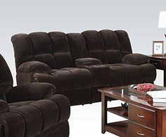 1PerfectChoice Ahearn Chocolate Champlon Reclining Loveseat With Console * Learn more by visiting the image link.