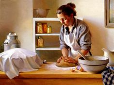 Jeffrey T. Larson Jeffrey T. Larson was born in 1962 in Two Harbors, Minnesota and grew up in the Twin Cities. Jeffrey has been traine. Norman Rockwell, Museum Studies, Art Themes, Realism Art, Old Master, How To Make Bread, Bread Making, Beautiful Paintings, Classic Paintings