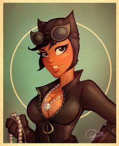 Mulher-Gato sendo gata