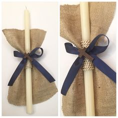 Jute Candle for palm sunday Jute, Candle Centerpieces, Candles, Palm Sunday, Easter Crafts, Christening, Design, First Holy Communion, Manualidades