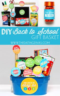 Totally gathering some extra supplies for this adorable gift basket for my man! www.TheDatingDivas.com