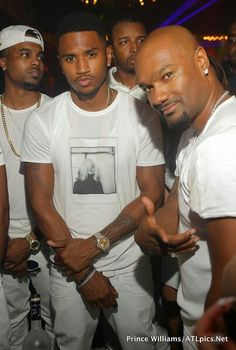 Trey songz at his all white party