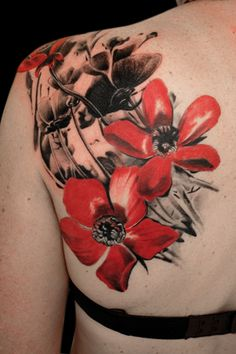 gorgeous shading. loving the red and black