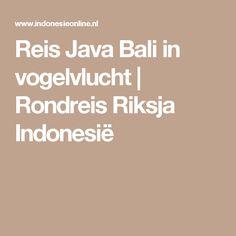 Reis Java Bali in vogelvlucht | Rondreis Riksja Indonesië