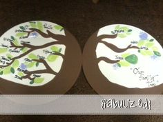 Custom hand painted JOINT family tree plate. Great gift for a large family, special occasion, or holiday <3 $20