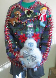I believe that this person just won the ugly Christmas sweater contest.