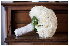 White roses wedding bouquet. Camilla Jorvad Photography