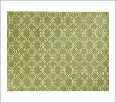 $200 30 by 9 feet runner Scroll Tile Rug - Green #potterybarn