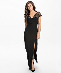 Women's Fashion Sexy Lace Splice Backless Party Conventional Maxi Dress