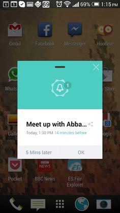 Fancy alert (out of app)