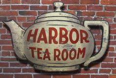 Custom Made Vintage Sign Art: Harbor Tea Room