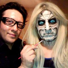 Winter is Coming - White Walker makeup from Game of Thrones - awesome job! www.sillyfarm.com