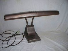 Vintage Dazor Industrial Double Gooseneck Metal Desk Lamp - Works!