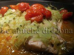 Le amiche di Dona - Appunti di cucina: Filetti di cernia in crosta di zucchine e pomodori...