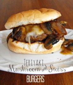 Teriyaki Mushroom and Swiss Burgers - Coffee With Us 3