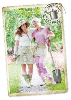 Garden Girl Womens Garden Overalls BibPants with Knee Pad