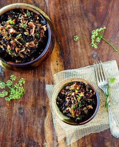 Wild Rice Salad w/ Cranberries and Toasted Pecans