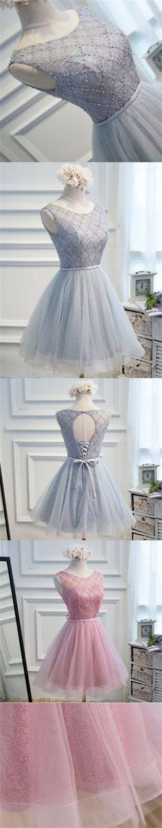 2017 Homecoming Dress Chic Lace Beading Short Prom Dress Party Dress JK212