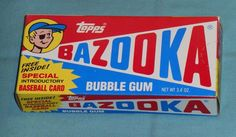 Bazooka Bubble Gum, 80s Food, Vintage Packaging, Time Warp, 50s Vintage, Human Art, Vintage Designs, Growing Up, The Past
