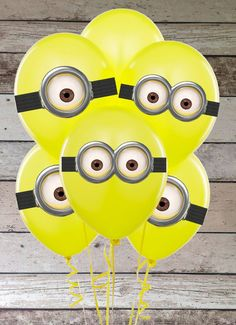 Despicable Me lovers will go bananas over this list of 21 mighty Minion birthday party ideas! From cute treats like Minion pretzels, cookies, cupcakes, and lollipops to clever tips on DIY Minion balloons and a 3rd Birthday Parties, Birthday Fun, Balloon Birthday, Birthday Ideas, Birthday Hats, Yellow Birthday, I Party, Party Time, Party Ideas