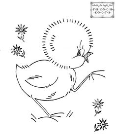 vintage baby embroidery designs   Free Cute Vintage Chicks Embroidery Transfer Patterns