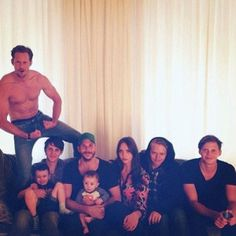 Swedish actor Stellan Skarsgard's children.  Among them is Vikings star Floki, Gustaf Skarsgard