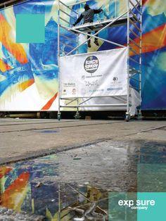 Mesh spandoek voor het KingsSpary Festival.
