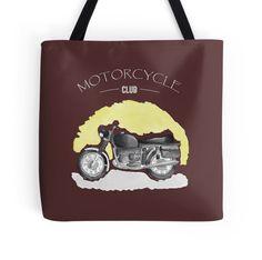 Watercolor Vintage Motorcycle