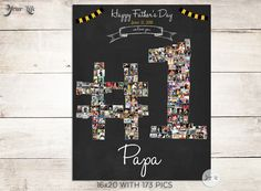 Photo Gift for Dad, Father's Day Grandfather Gift, Gift for Grandpa, Dad Birthday Gift, Father's Day, Gift for Daddy, Best Dad Daddy Gifts, Grandpa Gifts, Dad Birthday, Birthday Gifts, Shape Collage, Happy June, Grandfather Gifts, Personalized Gifts For Dad, Fathers Day Crafts